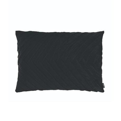 Riverdale Throw pillow Elja black polyester 50x70x23cm