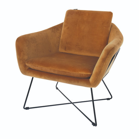 Riverdale Fauteuil Ridge or polyester 77x77x74cm