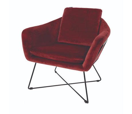 Riverdale Armchair Ridge red polyester 77x77x74cm