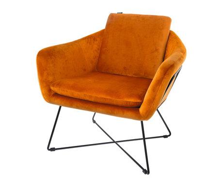 Riverdale Fauteuil Ridge orange polyester 77x77x74cm