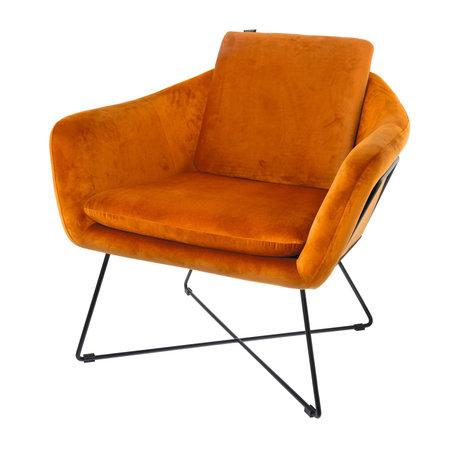 Riverdale Fauteuil Ridge oranje polyester 77x77x74cm