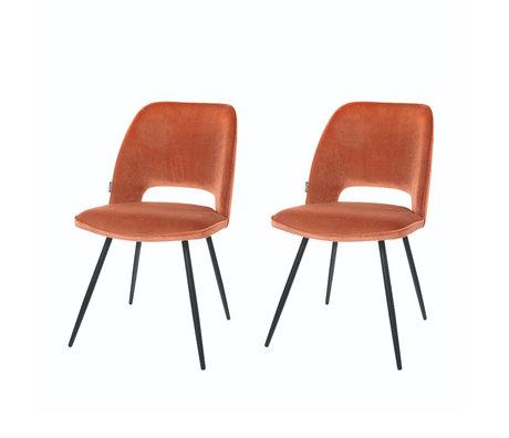 Riverdale Dining room chair Elja orange brown polyester 58x48x82cm