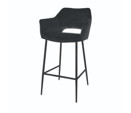 Riverdale Barstool Eve black polyester 56x56x98cm