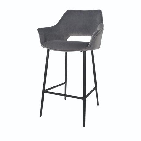 Riverdale Barstool Eve gray polyester 56x56x98cm