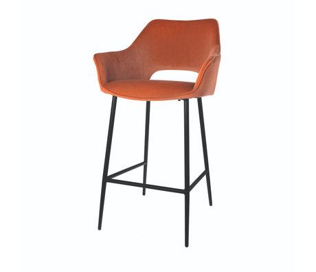Riverdale Tabouret de bar Eve orange marron polyester 56x56x98cm