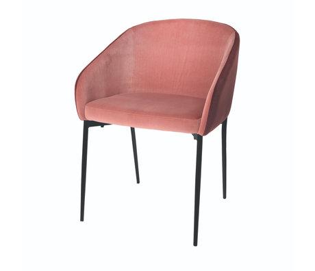 Riverdale Eetkamerstoel Febe roze polyester 56x54x78cm