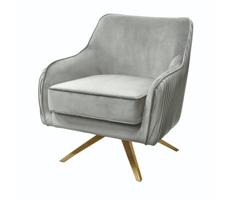 Riverdale Fauteuil Maddy gris polyester 82x74x86cm