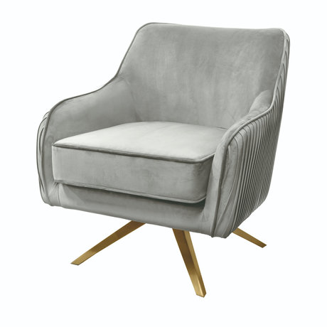Riverdale Fauteuil Maddy grijs polyester 82x74x86cm