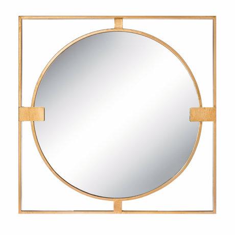 Riverdale Spiegel Rocco goud metaal 2x70x70cm