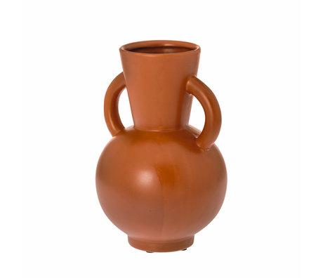 Riverdale Kandelaar Sam oranje bruin keramiek 15x15x23cm