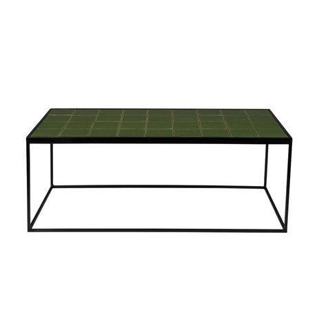 Zuiver Salontafel Glazed groen 93x43x36cm