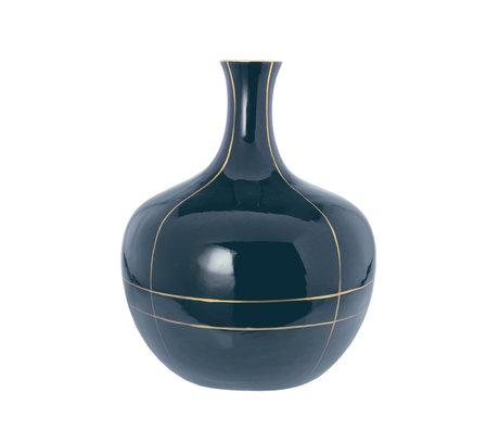 Riverdale Vaas Suus zwart goud keramiek 24x24x29,5cm