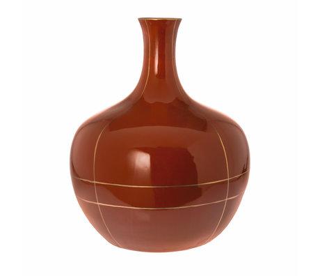 Riverdale Vaas Suus oranje bruin keramiek 40x40x49cm