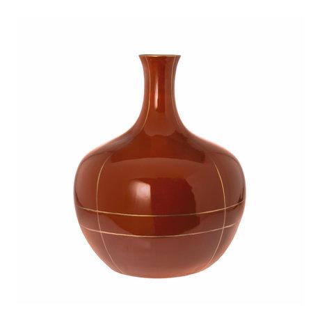 Riverdale Vaas Suus oranje bruin keramiek 24x24x29,5cm