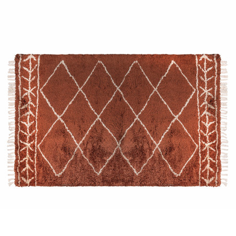 Riverdale Vloerkleed Bree oranje bruin textiel 200x290x3cm