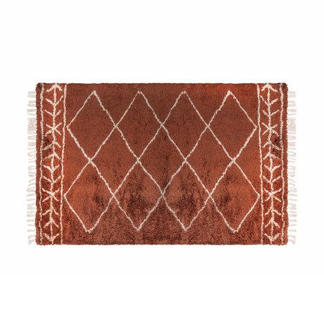 Riverdale Vloerkleed Bree oranje bruin textiel 160x230x3cm