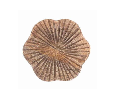 Riverdale Dienblad Fre naturel bruin hout 10x10x1,2cm