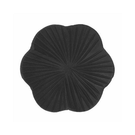 Riverdale Dienblad Fre zwart hout 10x10x1,2cm