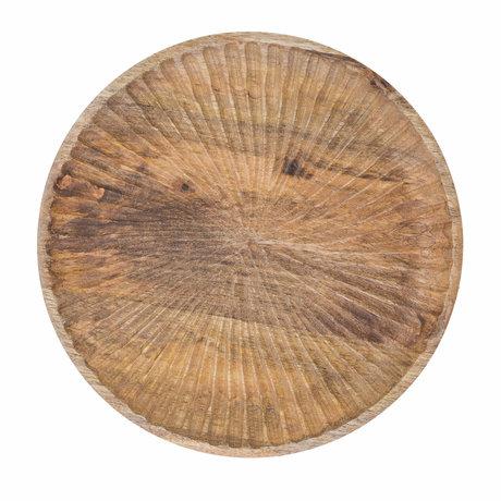 Riverdale Dienblad Sam naturel bruin hout Ø30x3cm