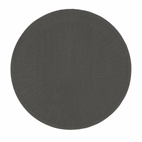 Riverdale Dienblad Sam zwart hout Ø30x3cm