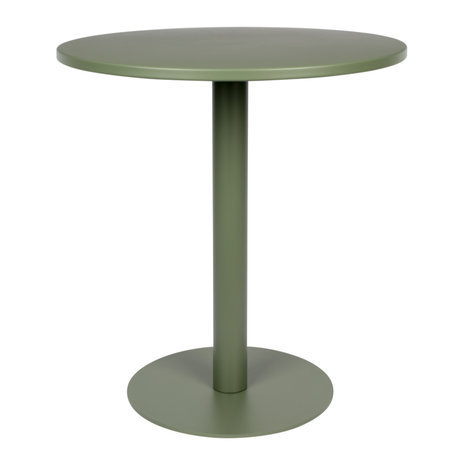 Zuiver Bistrotisch Metsu (Garten) grün pulverbeschichtetes Metall Ø70x76cm