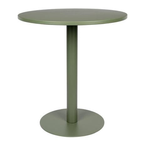 Zuiver Table de bistrot Metsu (jardin) en métal enduit de poudre verte Ø70x76cm