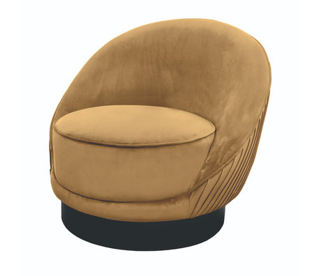 Riverdale Fauteuil Bonnie caramel bruin polyester 82x90x76cm