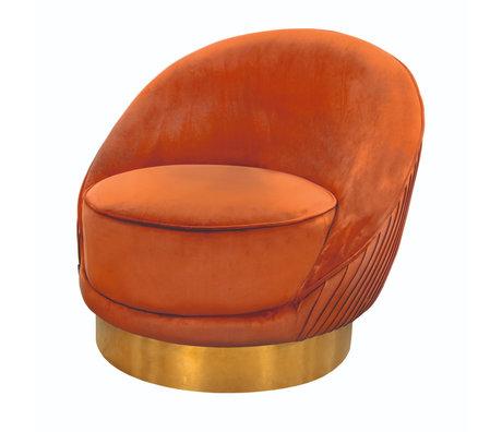 Riverdale Fauteuil Bonnie oranje bruin polyester 82x90x76cm