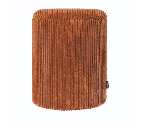 Riverdale Poef Luka oranje bruin polyester 35,5x35,5x45cm