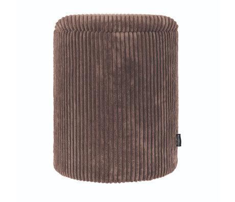 Riverdale Poef Luka bruin polyester 35,5x35,5x45cm