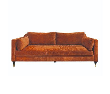 Riverdale Bank Maxim 2,5 zits oranje bruin polyester 94x220x82cm