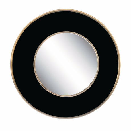 Riverdale Spiegel Fre zwart goud metaal 60x5x60cm