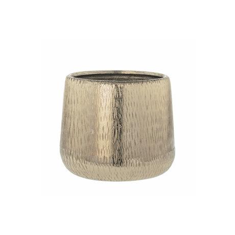 Riverdale Bloempot Amy goud aluminium 17x17x17cm