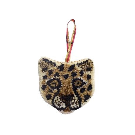 Doing Goods Hanger Loony Leopard bruin wol katoen 17x17cm