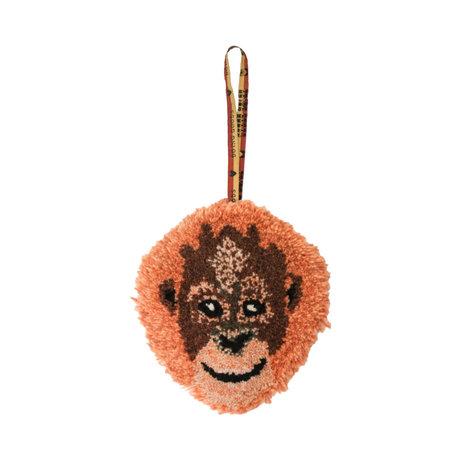Doing Goods Hanger Oddly Orang Utan oranje wol katoen 19x16cm