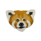 Doing Goods Vloerkleed Perky Panda Head bruin wol katoen 43x30cm