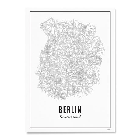 Wijck Poster Berlijn zwart wit papier 50x70cm