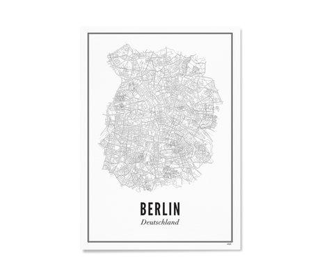 Wijck Poster Berlijn zwart wit papier 30x40cm