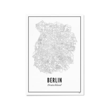Wijck Poster Berlijn zwart wit papier 21x30cm