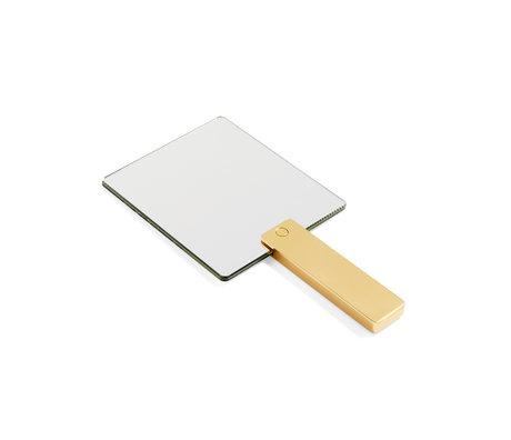 HAY Handspiegel Mirror Mirror goud aluminium glas 14x27cm