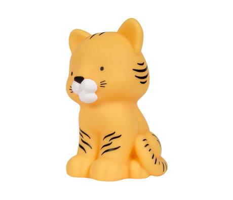 A Little Lovely Company Veilleuse Tiger jaune sans bpa et sans phtalate PVC 9.7x8.7x14cm