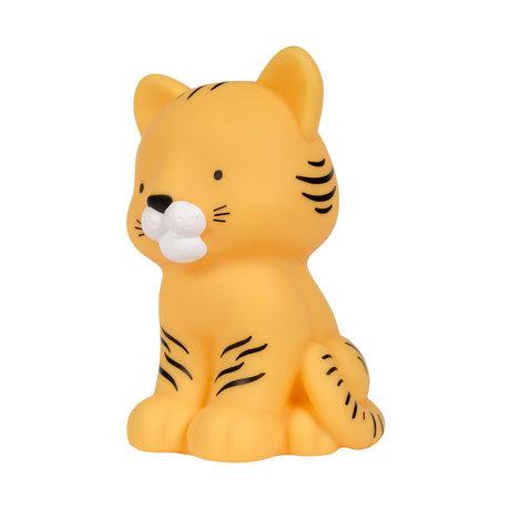 A Little Lovely Company Nachtlicht Tiger gelb bpa und phthalatfreies PVC 9,7x8,7x14cm