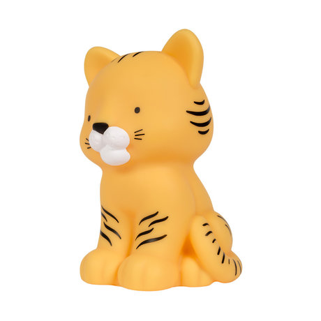 A Little Lovely Company Night light Tiger yellow bpa and phthalate free PVC 9.7x8.7x14cm