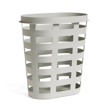 HAY Wasmand Laundry Basket L lichtgrijs plastic 57,5x37,5x62,5cm