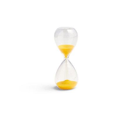 HAY Zandloper Time 3min geel transparant glas ¯3,5x9cm