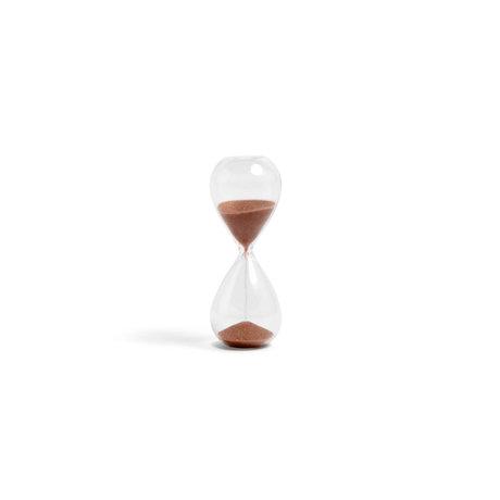 HAY Zandloper Time 3min koper transparant glas ¯3,5x9cm