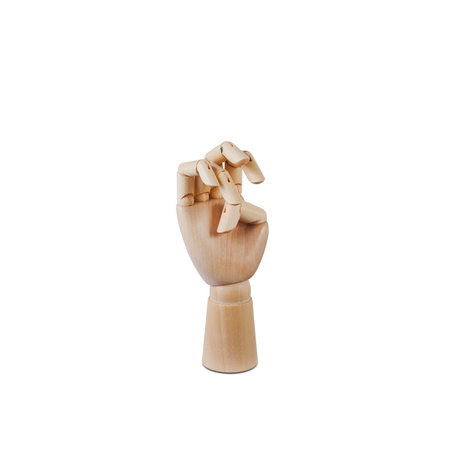 HAY Accessoire Wooden Hand S bruin hout 6x13,5cm