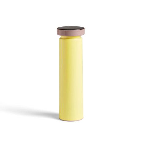 HAY Zout en peper molen Salt & Pepper M geel staal Ø6x20cm