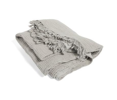 HAY Plaid Crinkle grijs katoen 210x150cm
