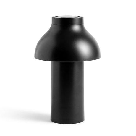 HAY Lamp PC Portable zwart kunststof ¯14x22cm
